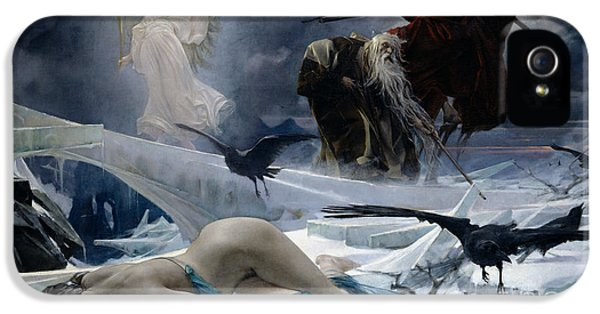 Grim Reaper iPhone 5 Cases - Ahasuerus at the End of the World iPhone 5 Case by Adolph Hiremy Hirschl