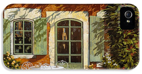 Cool iPhone 5 Cases - Al Fresco In Cortile iPhone 5 Case by Guido Borelli