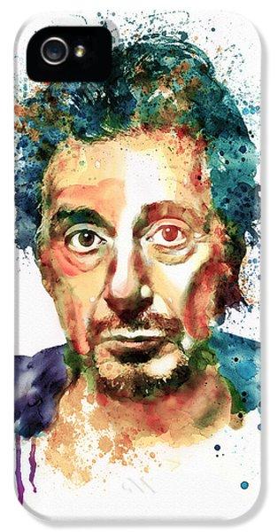 Al Pacino iPhone 5 Cases - Al Pacino Watercolor portrait iPhone 5 Case by Marian Voicu