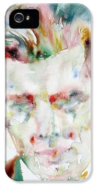 Aldous Huxley - Watercolor Portrait.3 IPhone 5 / 5s Case by Fabrizio Cassetta