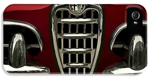 Alfa Romeo iPhone 5 Cases - Alfa Red iPhone 5 Case by Douglas Pittman