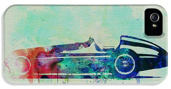 Alfa Romeo iPhone 5 Cases - Alfa Romeo Tipo Watercolor iPhone 5 Case by Naxart Studio