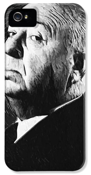 Alfred Hitchcock IPhone 5 / 5s Case by Taylan Soyturk