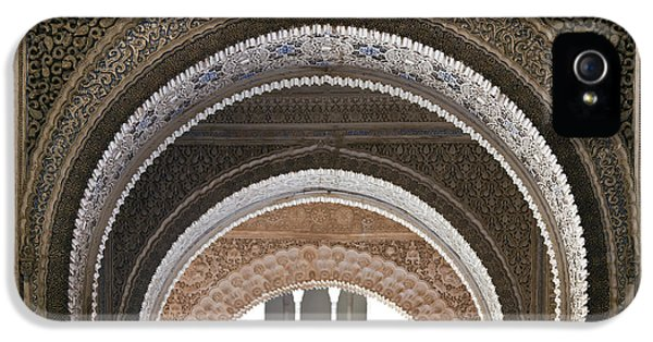 Andalusia iPhone 5 Cases - Alhambra arches iPhone 5 Case by Jane Rix
