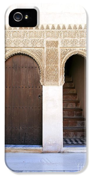 Andalusia iPhone 5 Cases - Alhambra door and stairs iPhone 5 Case by Jane Rix