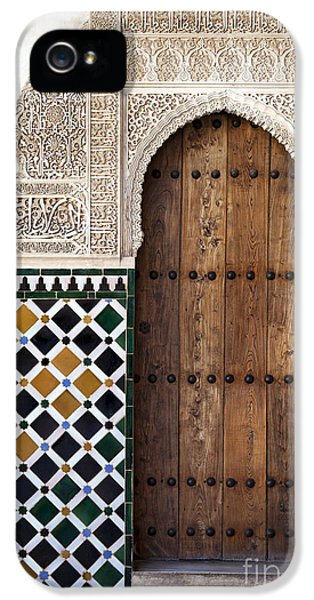 Stone iPhone 5 Cases - Alhambra door detail iPhone 5 Case by Jane Rix