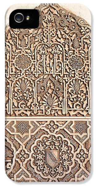 Carve iPhone 5 Cases - Alhambra wall panel detail iPhone 5 Case by Jane Rix