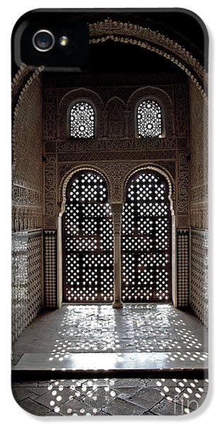 Arabic iPhone 5 Cases - Alhambra window iPhone 5 Case by Jane Rix