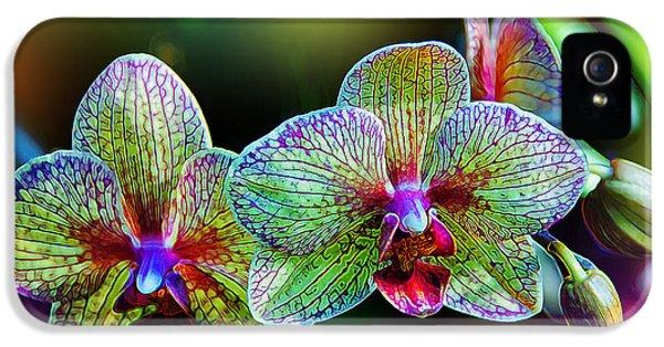 Alien Orchids IPhone 5 / 5s Case by Bill Tiepelman