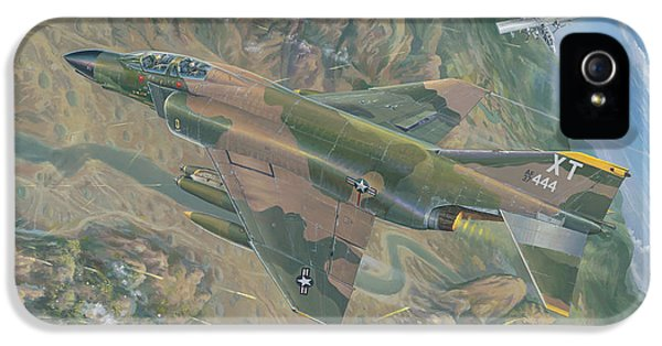 Mcdonnell Douglas iPhone 5 Cases - ALL FOR ONE   The Rescue of Boxer 22 Ban Phanop Laos 5 thru 7 December 1969 iPhone 5 Case by Randy Green
