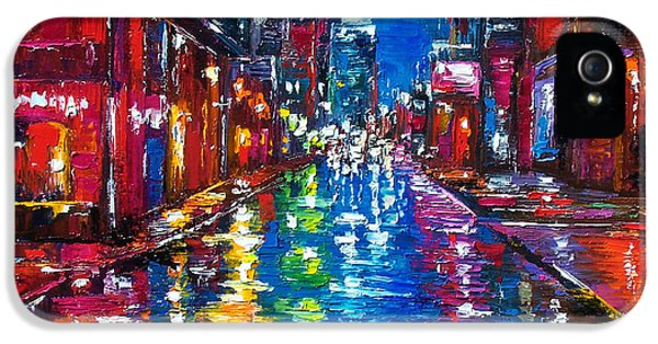 City iPhone 5 Cases - All Night Long iPhone 5 Case by Debra Hurd