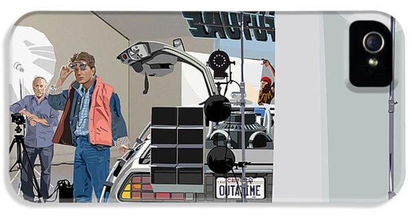 Michael J Fox iPhone 5 Cases - Alt. Poster Angle iPhone 5 Case by Kurt Ramschissel