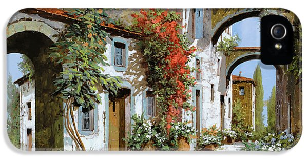 Street Scene iPhone 5 Cases - Altri Archi iPhone 5 Case by Guido Borelli
