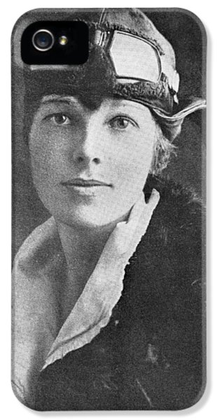 Amelia Earhart, Us Aviation Pioneer IPhone 5 / 5s Case by Science, Industry & Business Librarynew York Public Library