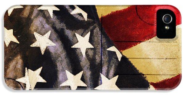 Blank iPhone 5 Cases - America flag pattern postcard iPhone 5 Case by Setsiri Silapasuwanchai