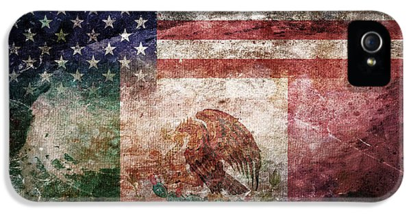 July 4th iPhone 5 Cases - American Mexican Tattered Flag  iPhone 5 Case by Az Jackson
