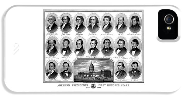 Grant iPhone 5 Cases - American Presidents First Hundred Years iPhone 5 Case by War Is Hell Store