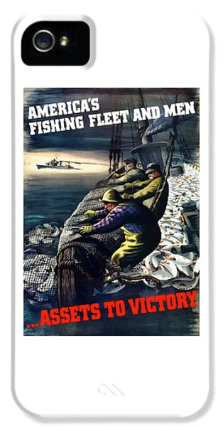 Fishing iPhone 5 Cases - Americas Fishing Fleet And Men  iPhone 5 Case by War Is Hell Store