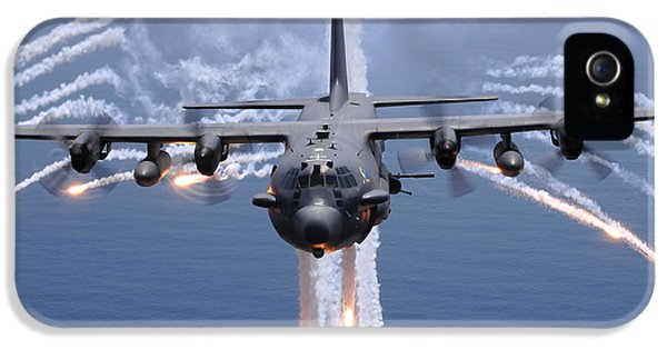 Infrared iPhone 5 Cases - An Ac-130h Gunship Aircraft Jettisons iPhone 5 Case by Stocktrek Images
