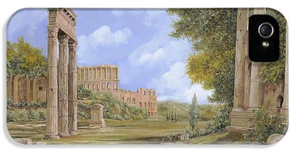 Ancient iPhone 5 Cases - Anfiteatro Romano iPhone 5 Case by Guido Borelli