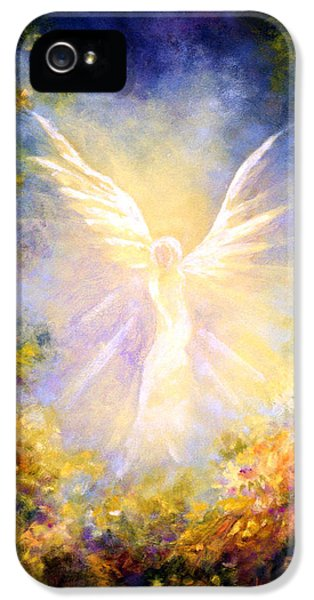Archangel iPhone 5 Cases - Angel Descending iPhone 5 Case by Marina Petro