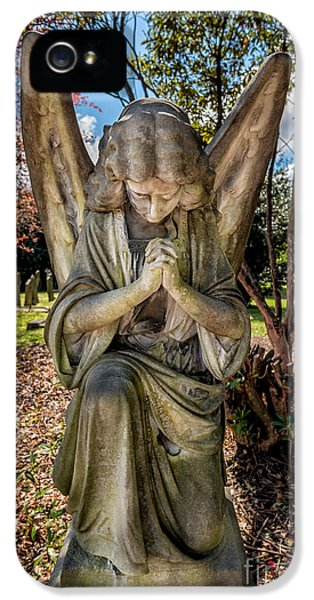 Burial iPhone 5 Cases - Angel In Prayer iPhone 5 Case by Adrian Evans