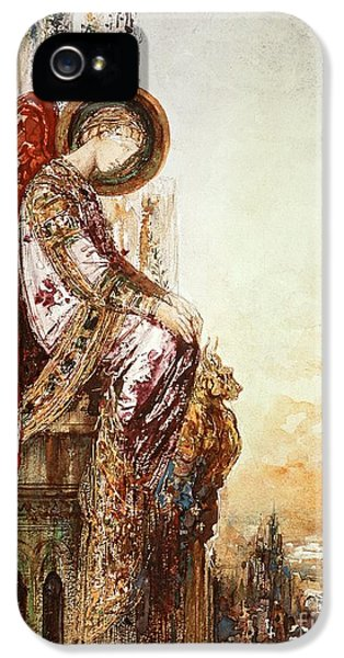 Angelic iPhone 5 Cases - Angel Traveller iPhone 5 Case by Gustave Moreau
