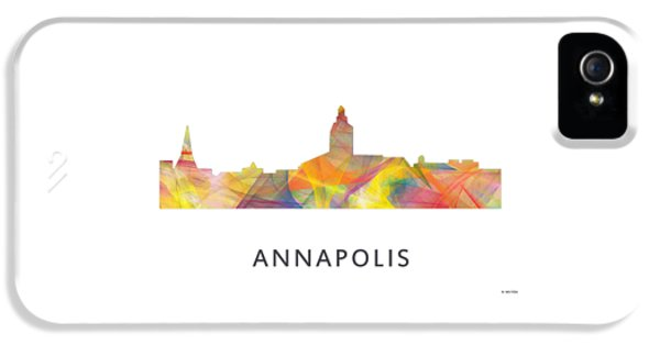 House Md Art iPhone 5 Cases - Annapolis Maryland Skyline      iPhone 5 Case by Marlene Watson