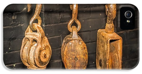 Work Tool iPhone 5 Cases - Antique Pulleys iPhone 5 Case by Paul Freidlund