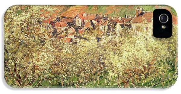 Apple Trees In Blossom IPhone 5 / 5s Case by Claude Monet