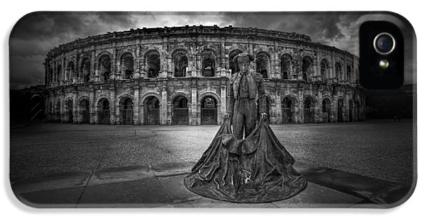 Archeology iPhone 5 Cases - Arena of Nimes v.2 iPhone 5 Case by Erik Brede