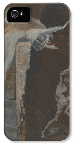 Ariadne Watching The Struggle Of Theseus With The Minotaur IPhone 5 / 5s Case by Henry Fuseli