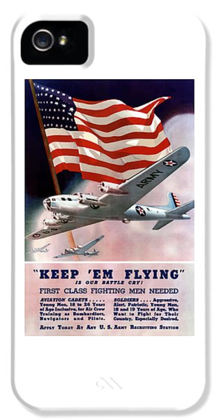 American Flag iPhone 5 Cases - Army Air Corps Recruiting Poster iPhone 5 Case by War Is Hell Store