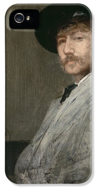 Men In Black iPhone 5 Cases - Arrangement in Grey  Portrait of the Painter iPhone 5 Case by James Abbott McNeill Whistler