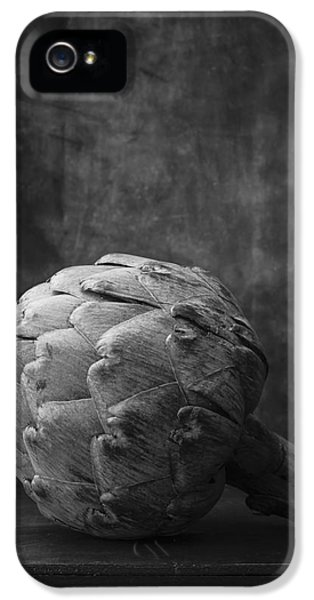 Artichoke Black And White Still Life IPhone 5 / 5s Case by Edward Fielding