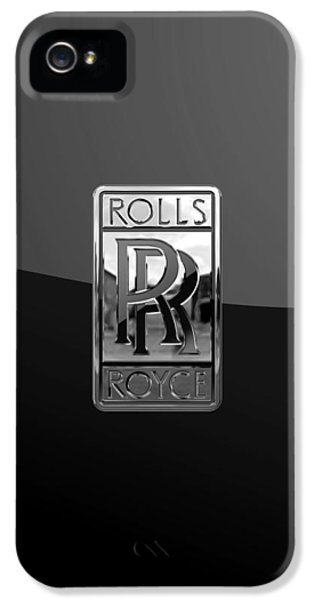 Rolls Royce - 3d Badge On Black IPhone 5 / 5s Case by Serge Averbukh