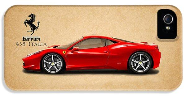 Classic Car iPhone 5 Cases - Ferrari 458 Italia iPhone 5 Case by Mark Rogan