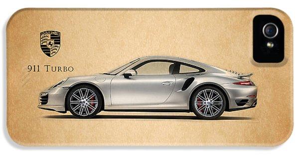 Classic Car iPhone 5 Cases - Porsche 911 Turbo iPhone 5 Case by Mark Rogan