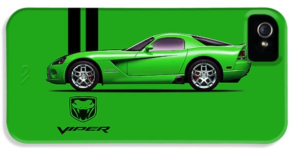Dodge Viper Snake Green IPhone 5 / 5s Case by Mark Rogan