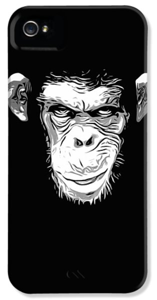 Scary iPhone 5 Cases - Evil Monkey iPhone 5 Case by Nicklas Gustafsson