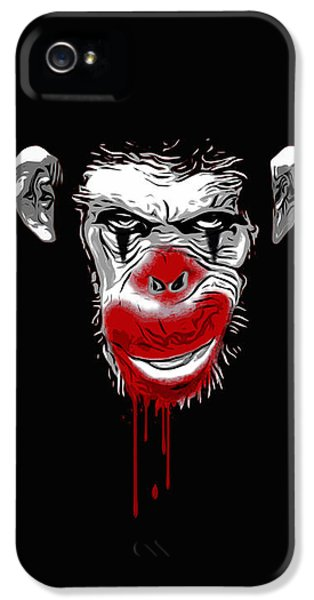 Scary iPhone 5 Cases - Evil Monkey Clown iPhone 5 Case by Nicklas Gustafsson