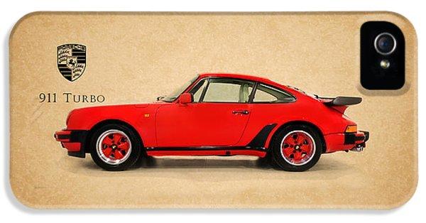 Porsche 911 iPhone 5 Cases - Porsche 911 Turbo 1985 iPhone 5 Case by Mark Rogan