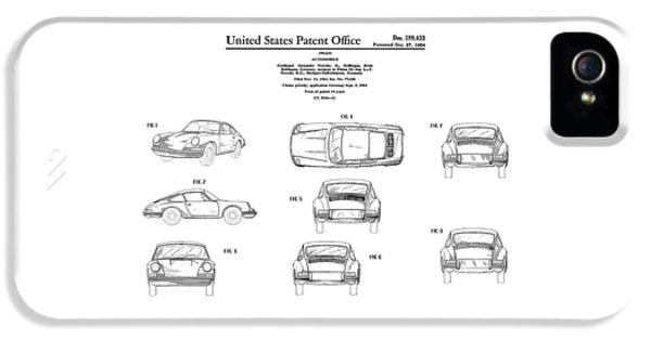 Porsche 911 Patent IPhone 5 / 5s Case by Mark Rogan