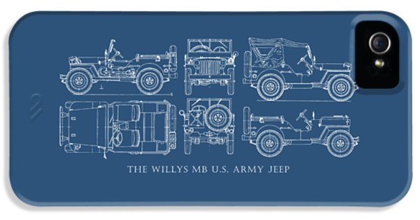 Blueprint iPhone 5 Cases - The Willys Jeep iPhone 5 Case by Mark Rogan