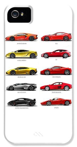 Ferrari iPhone 5 Cases - The Italian Job 2 iPhone 5 Case by Mark Rogan