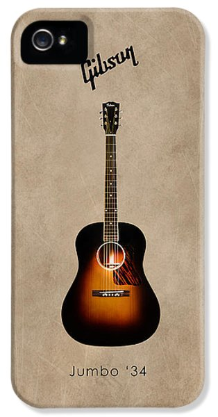 Acoustic iPhone 5 Cases - Gibson Original Jumbo 1934 iPhone 5 Case by Mark Rogan