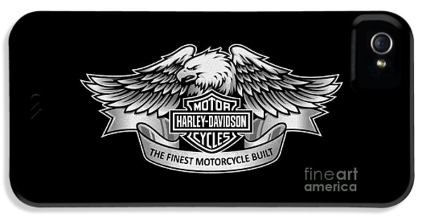 Classic iPhone 5 Cases - Harley Eagle Phone Case iPhone 5 Case by Mark Rogan