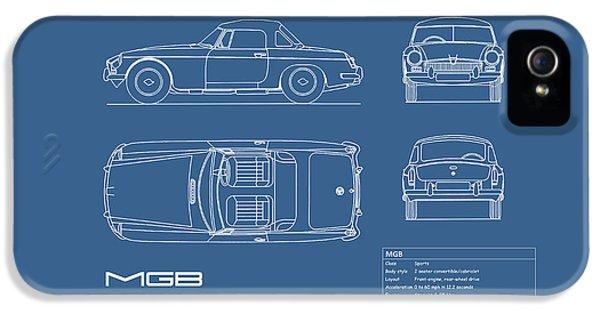 Mgb Blueprint IPhone 5 / 5s Case by Mark Rogan
