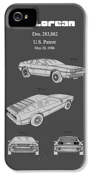 De Lorean Patent 1986 IPhone 5 / 5s Case by Mark Rogan