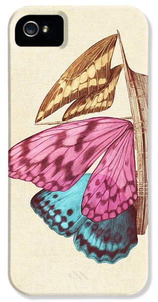 Butterfly Ship IPhone 5 / 5s Case by Eric Fan